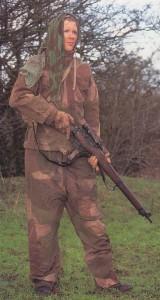 British sniper, reenactor