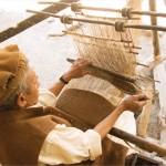 Telar fabricando lana para pakols