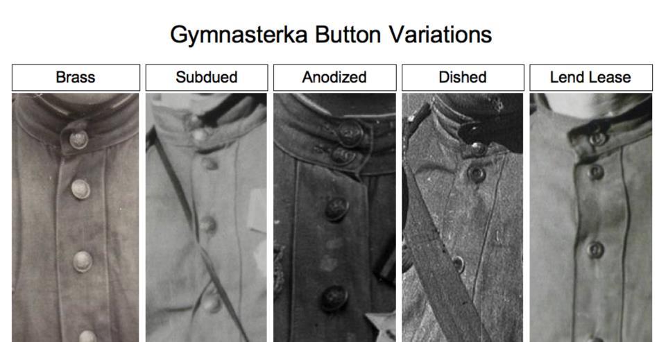 Comparativa de botones y cuellos de las gymnastorkas