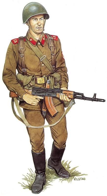 Yo soy un soldado ruso de la guerra fria. ¿Ves alguna diferencia con los de segunda guerra mundial?