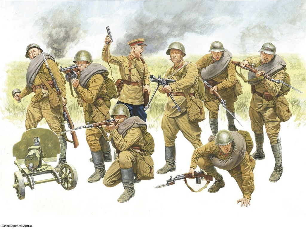 soviet-soldiers-infantry-army-world-war-ii-drawing